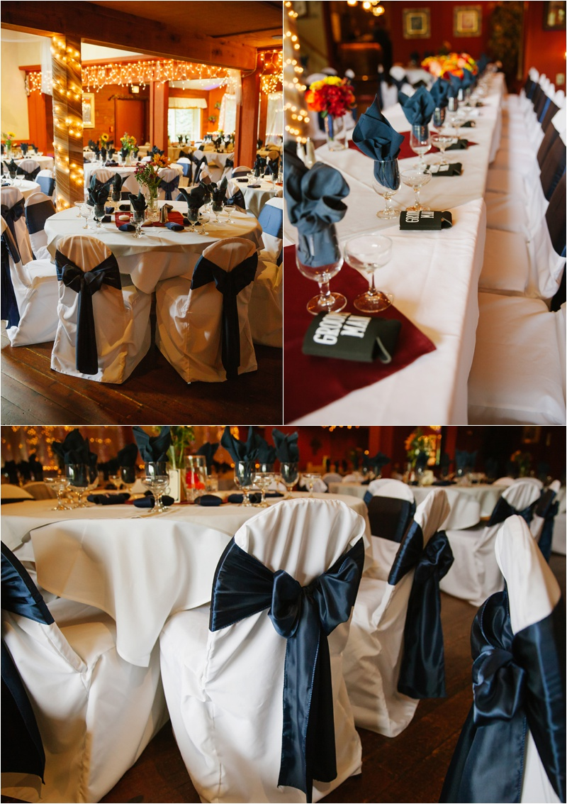 ... The Loft And Chapel / Florist: Easy  BlueOrchid Creations / Chair Covers:  Sitting Pretty / Photos: Nikki Winter Photography / Hair: Studio 890